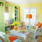 Gray Living Room With Bright Accents at Awesome Colorful Living ...