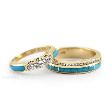 Turquoise, gold and diamonds for a truly Southwestern look