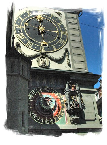 astrological zytglogge tower clock