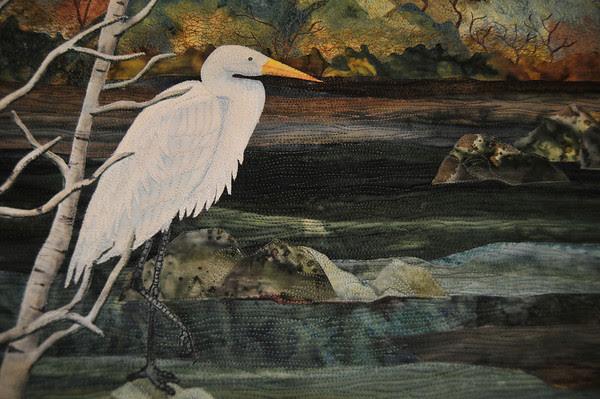 Detail of Evening Egrets by Joanne Baeth