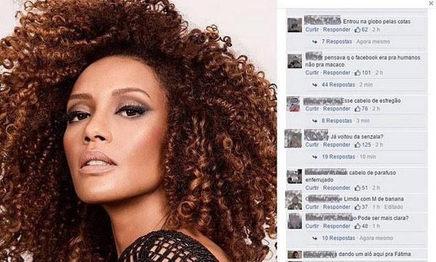 Taís Araújo recebe comentários racistas em página no Facebook