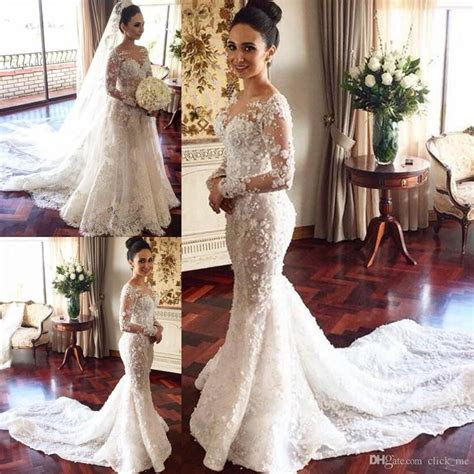 Discount Vintage Long Sleeves Wedding Dresses Long Two