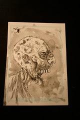 Zombie card 3 watercolour