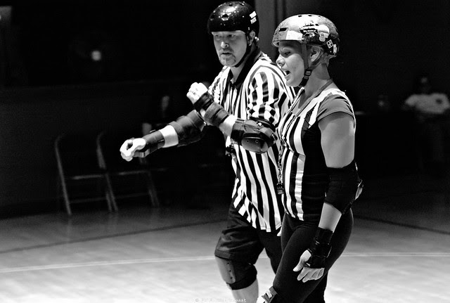the life of a roller derby ref is always intense