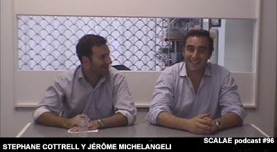 Stephane Cottrell y Jérôme Michelangeli en el Centro de Enlace AE BCN para SCALAE
