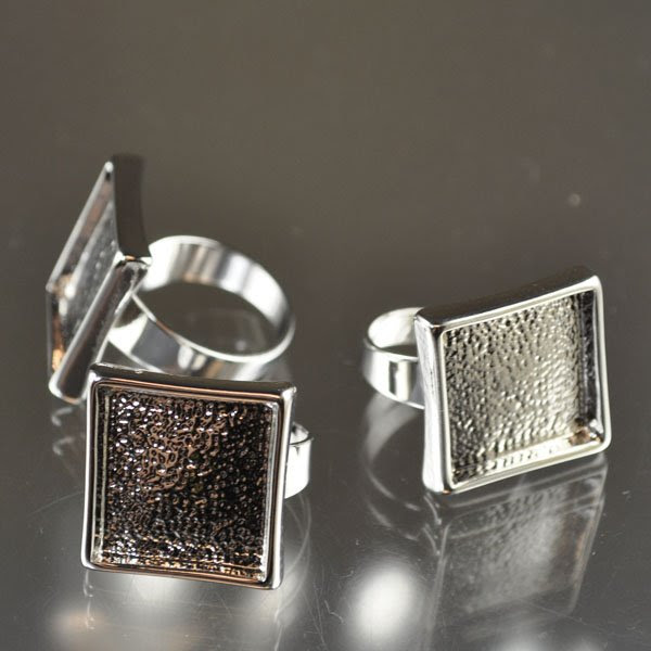 s34381 Findings - 17.5 mm Square Bezel Ring - Silverplated (1)