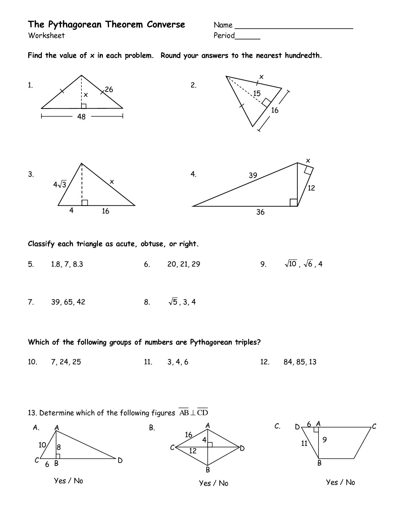 31 Pythagorean Theorem Worksheet Answers   Worksheet ...