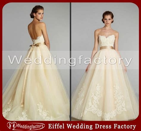 Vintage Brown Or Red And Cream Wedding Dresses Ball Gown