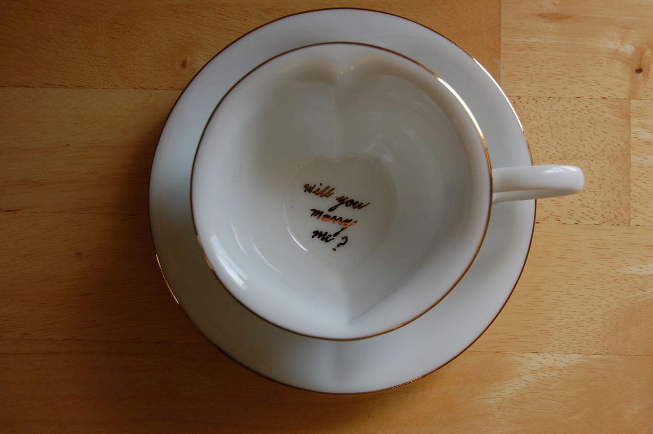 Will You Marry Me Hidden Message Teacup