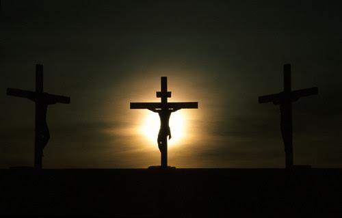 jesus en la cruz difuminado
