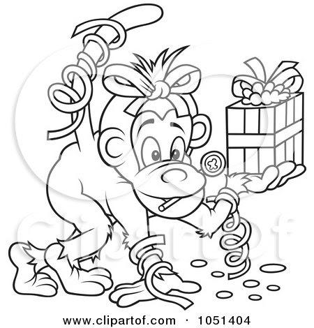 Royalty-Free (RF) Birthday Monkey Clipart, Illustrations ...