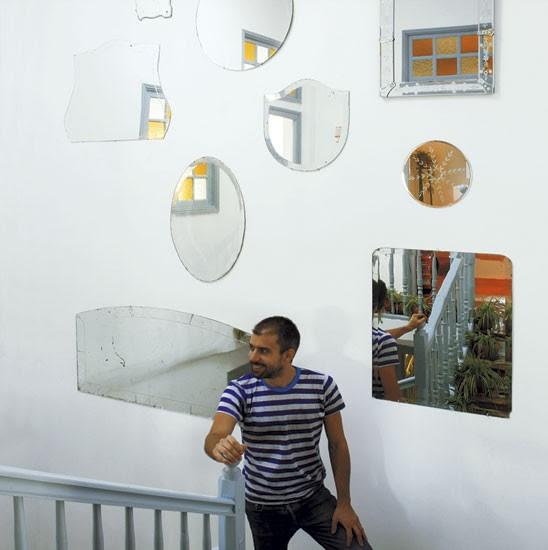 Hallway mirror display   Spanish townhouse tour   PHOTO GALLERY   House Tour   Livingetc