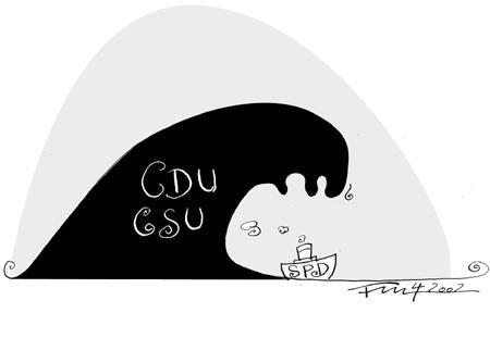 Cartoon: Die Welle (medium) by 2001 tagged wnde,bundetagswahl,wahl