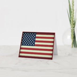 Patriotic American Flag Greeting Card