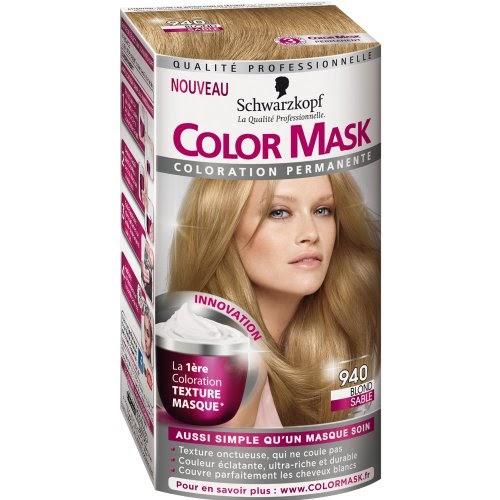 schwarzkopf color mask coloration permanente pour cheveux blond sable 940 colorations. Black Bedroom Furniture Sets. Home Design Ideas