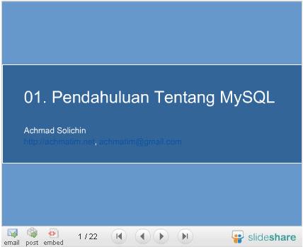 Pengantar MySQL