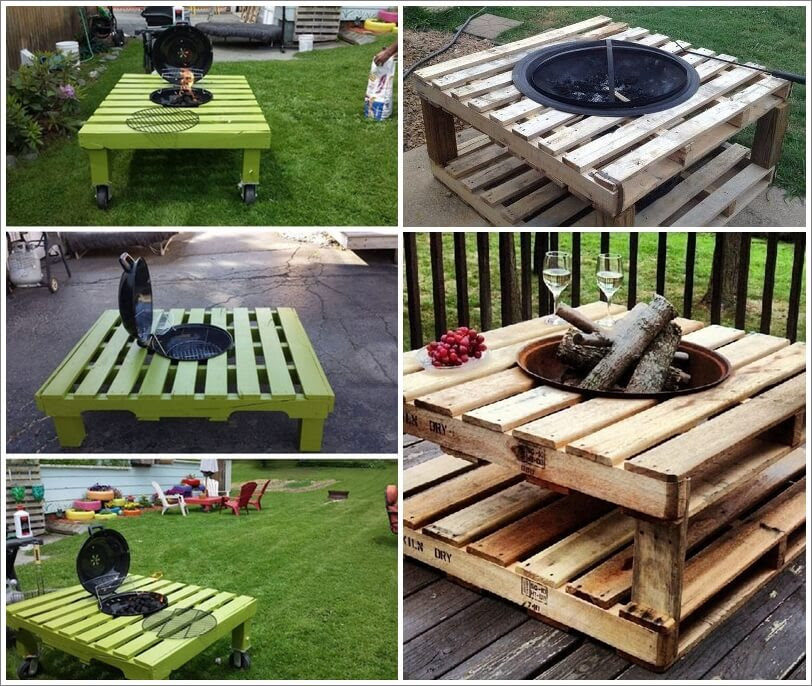 build pallet fire pit