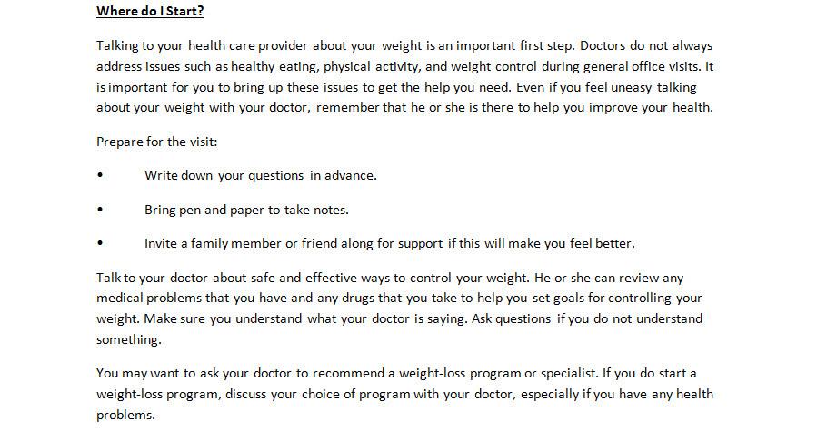 Physicians Weight Loss Diet Plan Women Bytes