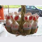Cestino pasquale con coniglietti Tutorial e Cartamodello