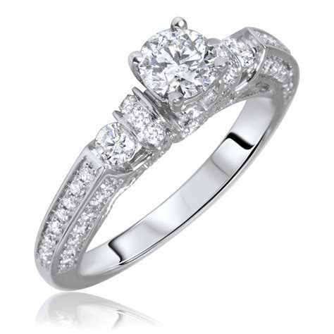 1 1/10 Carat T.W. Round Cut Diamond Ladies Engagement Ring