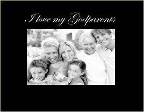 I Love My Godparents Photo Frame Athena Posters