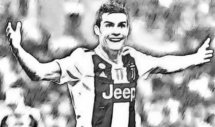 Dibujo Para Colorear Liga De Campeones 2019 Cristiano Ronaldo 2019 1