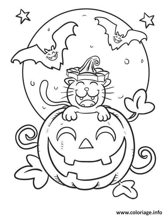 Coloriage Halloween Citrouille Souriant Jecoloriecom