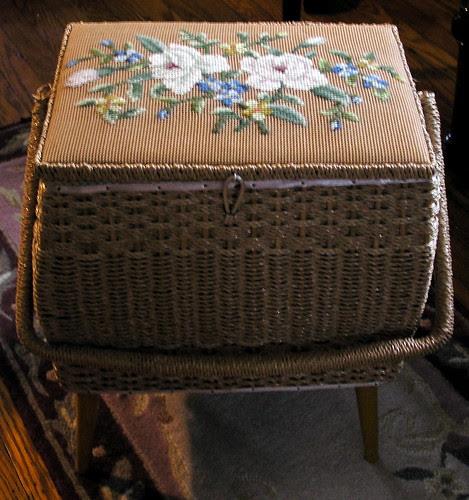 Needlepoint Sewing Basket