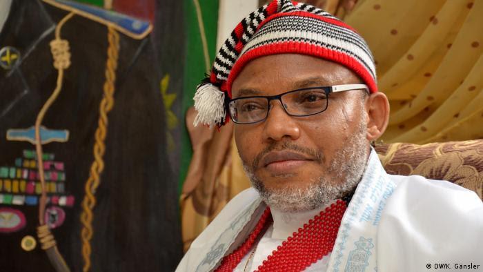 Nigeria's Biafra leader   Nnamdi Kanu (DW/K. Gänsler)