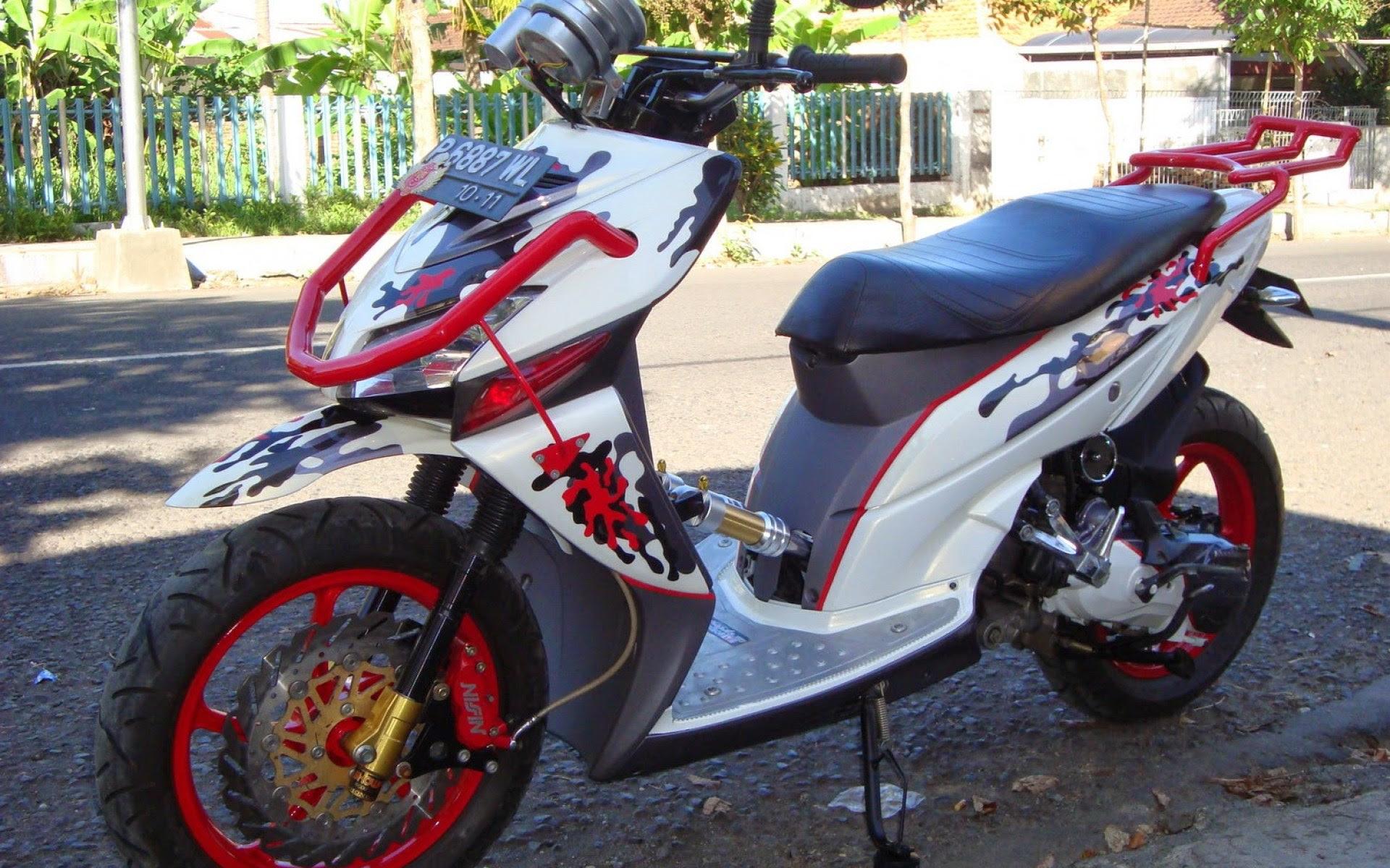 Koleksi Modifikasi Motor Matic Suzuki Skywave Terbaru Modifikasi