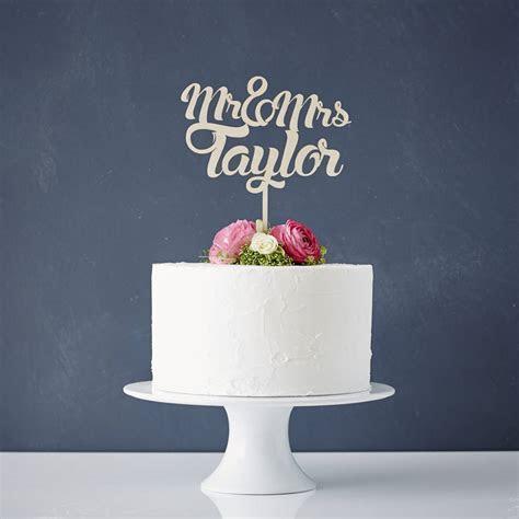 wooden wedding cake topper ? CottonCloud Letterpress