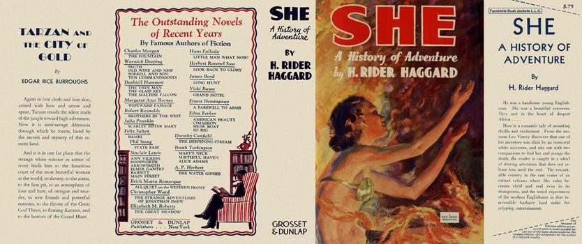 She. H. Rider Haggard.