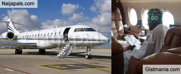 Image result for tinubu private jet