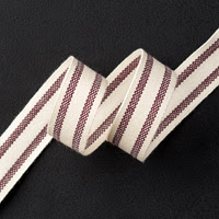 "Blackberry Bliss 5/8"" Striped Cotton Ribbon by Stampin' Up!"
