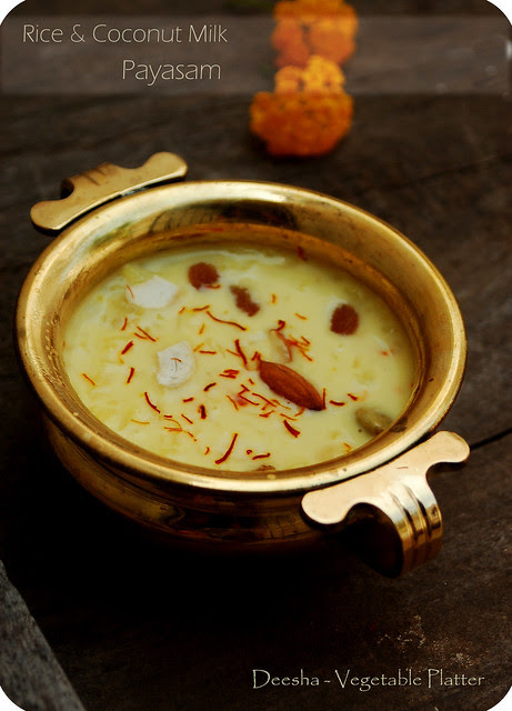 Rice & Coconut Milk Payasam
