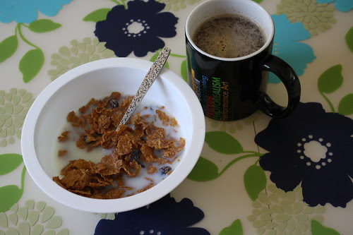 cereal, coffee