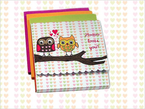 My Owl Barn Valentine Sticky Notes