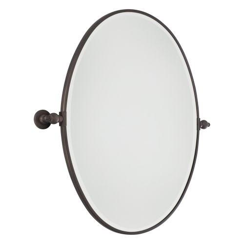 Minka Lavery 1433 267 Dark Brushed Bronze Pivoting Bathroom Mirror Oval Bathroom Mirrors