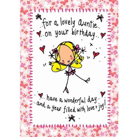 For a lovely Auntie on your birthday  ? Juicy Lucy Designs