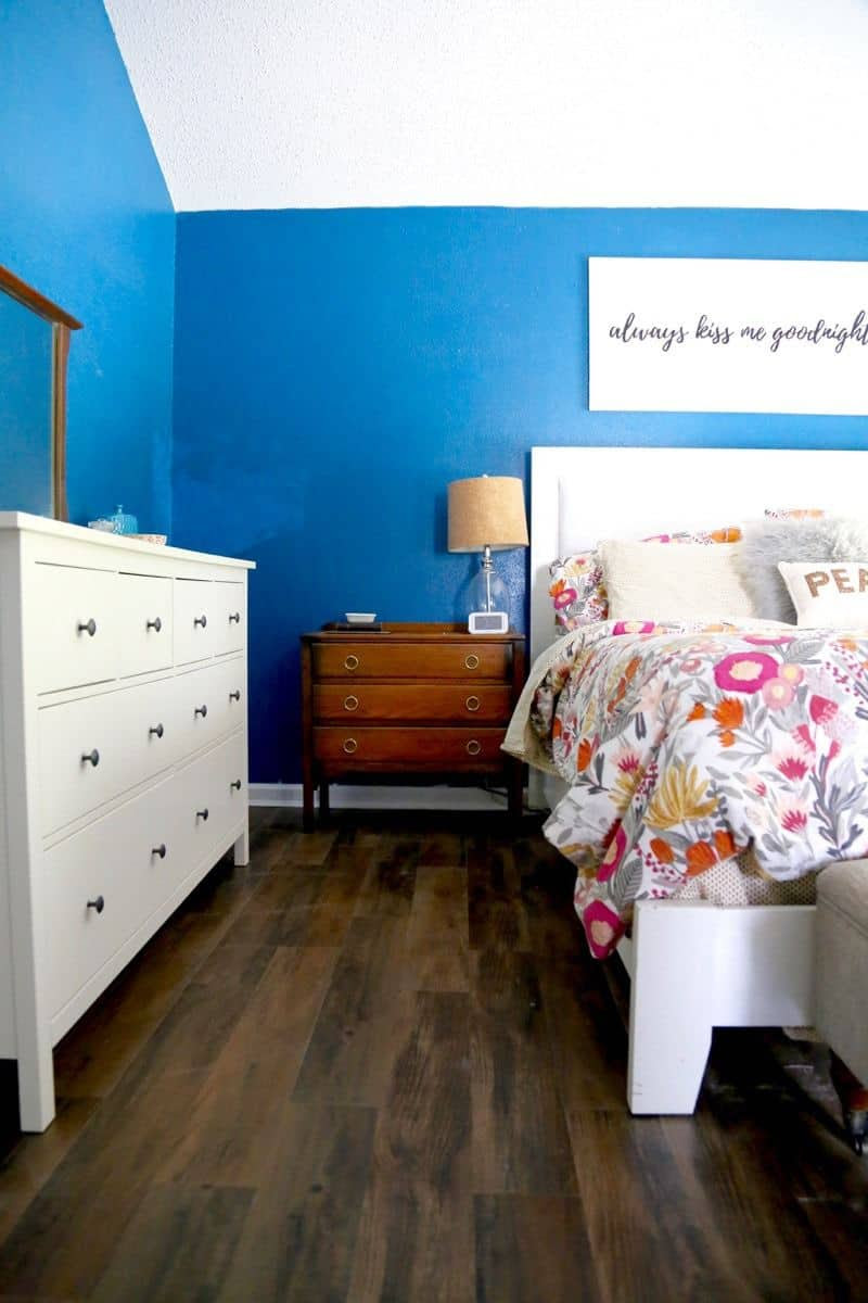Vinyl Plank Flooring in the Bedroom | Love & Renovations
