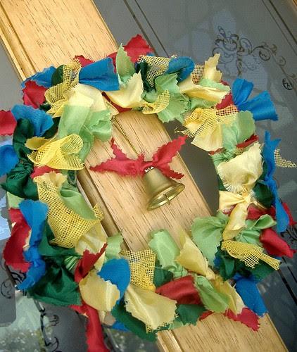 bright rag wreath