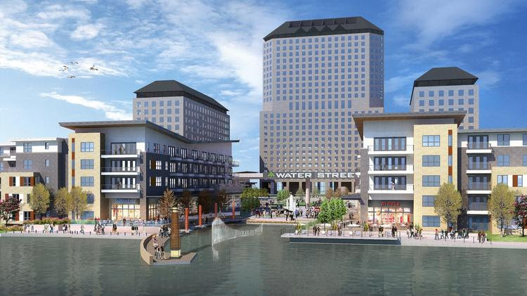 The massive Water Street project will bring waterside dining along Lake Carolyn in Irving.