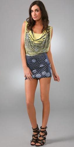 McQ - Alexander McQueen Cowl Detail Printed Dress