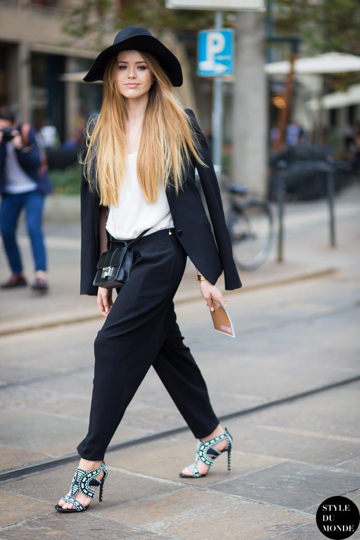 Kristina Bazan Street Style Street Fashion Streetsnaps by STYLEDUMONDE Street Style Fashion Blog