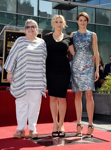 Shailene Woodley - Kate Winslet Honored on the Walk of Fame — Part 2