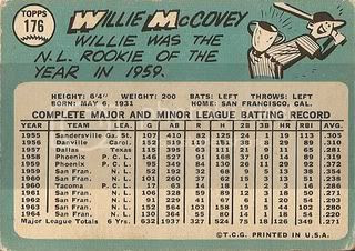 #176 Willie McCovey (back)