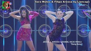 Filipa Areosa sensual no programa Lip Sync