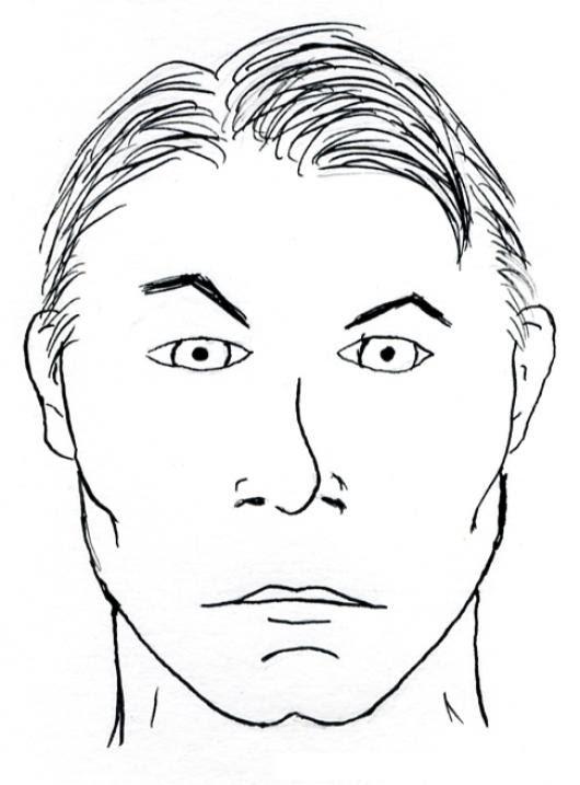 Dibujo De Hombre Indigena De Ojos Claros Para Pintar Y Colorear