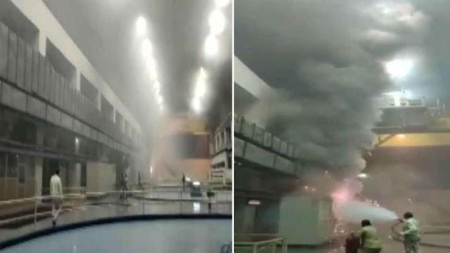 तेलंगाना पावर स्टेशन में लगी भीषण आग, अंदर फंसे 9 लोगों को बचाने के प्रयास जारी