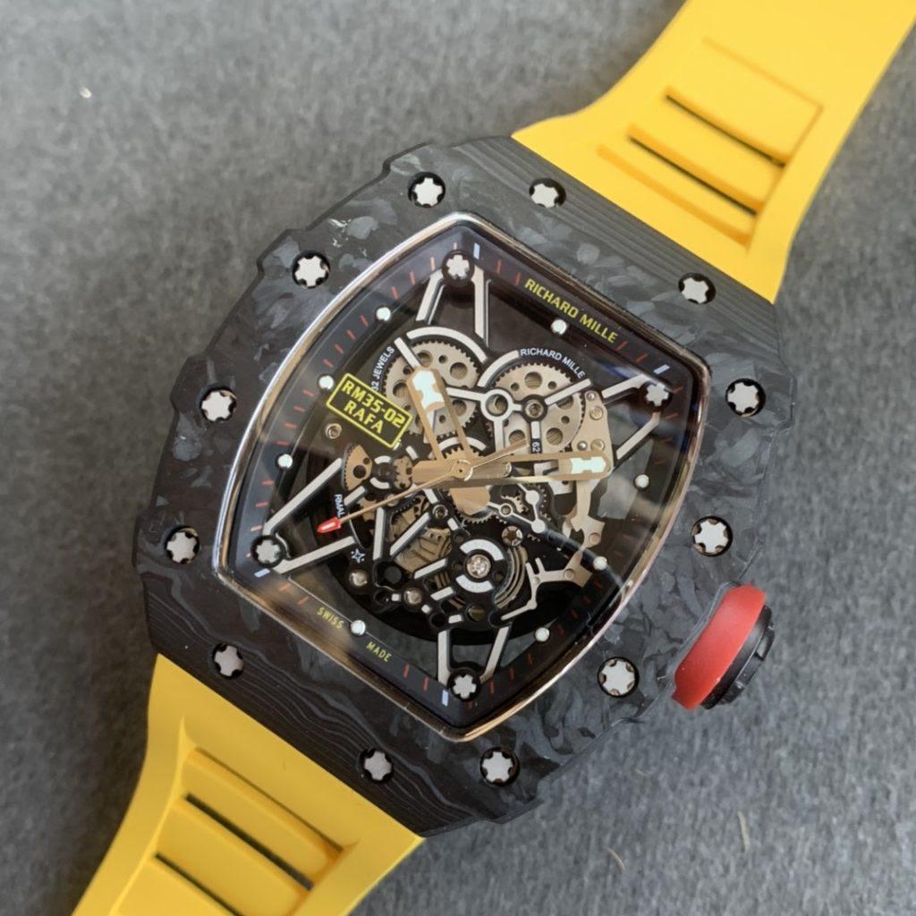 Replica Richard Mille Forged Carbon Orange Watch